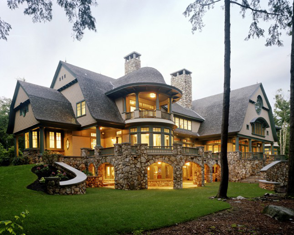 Eight bedroom beautiful house in new hampshire most for Most modern house in the world
