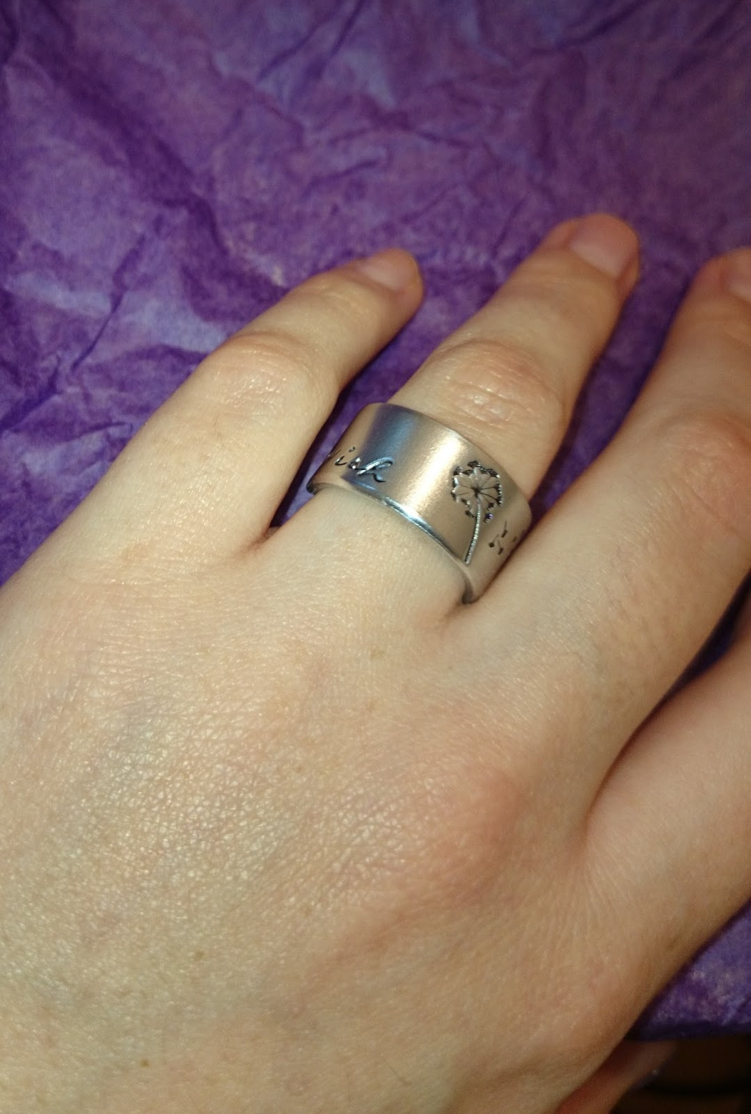Silver Statements Wish Ring