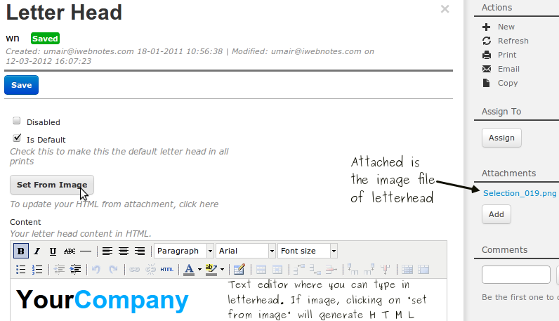 how to type a letterhead