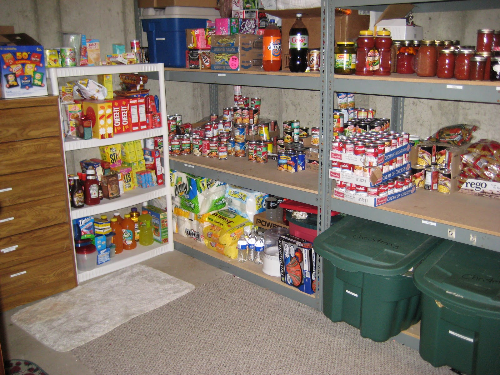 Spring Cleaning With Thrifty 101...........The Food Storage Room