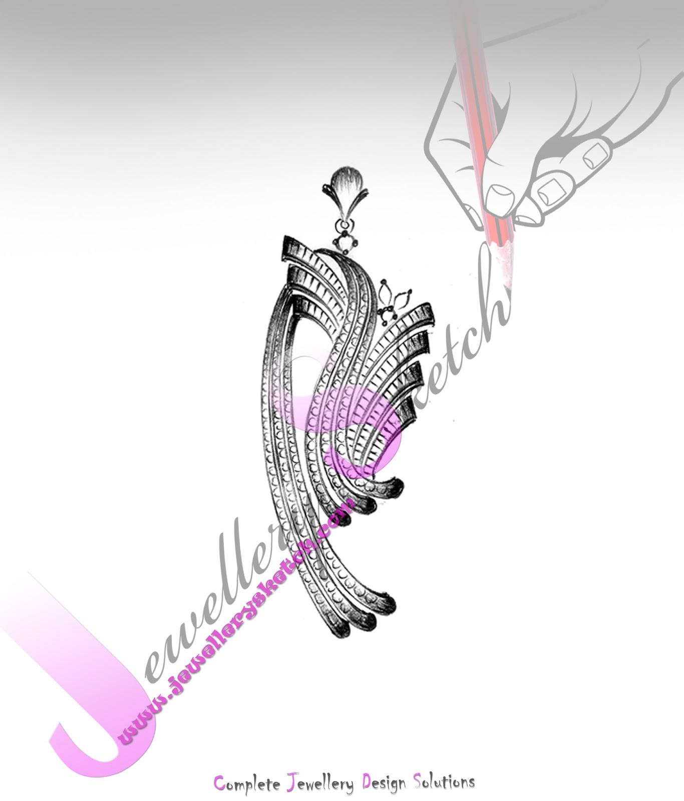 Easy Customized jewellery sketch design : January 2016