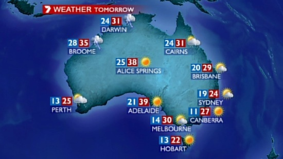 My Late Night Notebook: Video: The Weather forecast in Australia