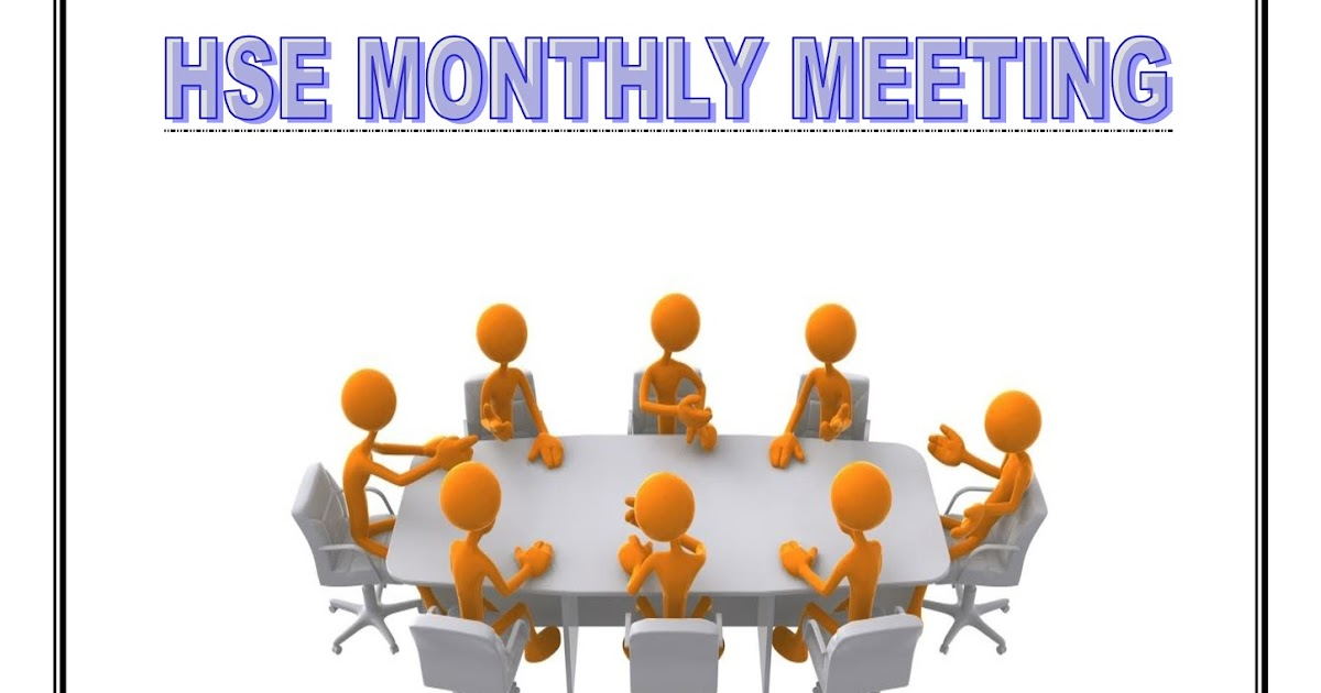 hsedot com  hse monthly meeting sample format