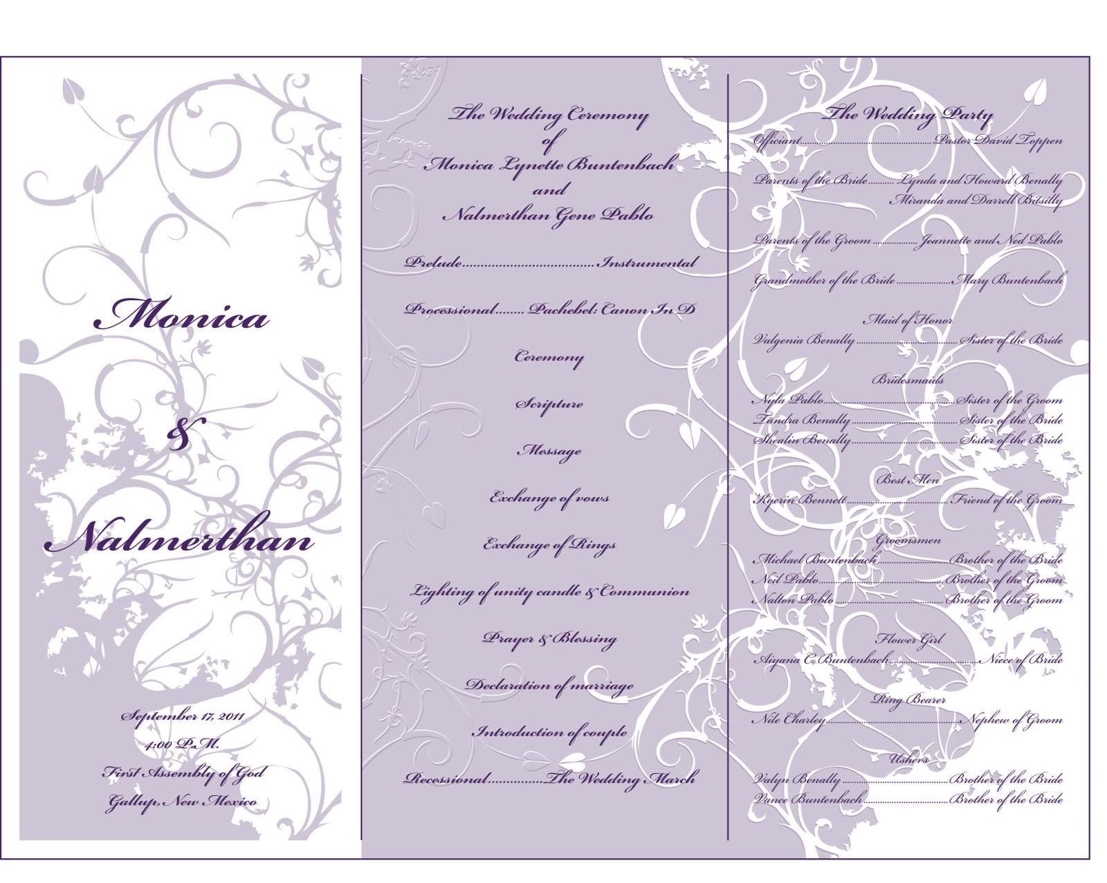 Nalmerthan Pablo Portfolio Wedding Pamphlet