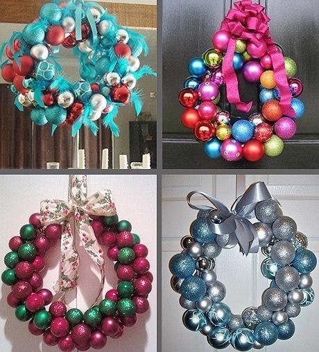 Венки на новый год из шариков