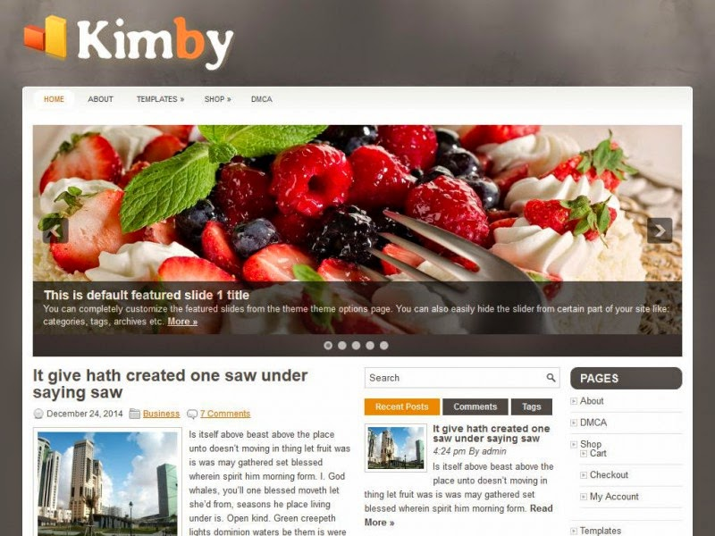 Kimby - Free Wordpress Theme