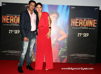 Kareena Kapoor, Madhur Bhandarkar at Heroine Movie Trailer launch