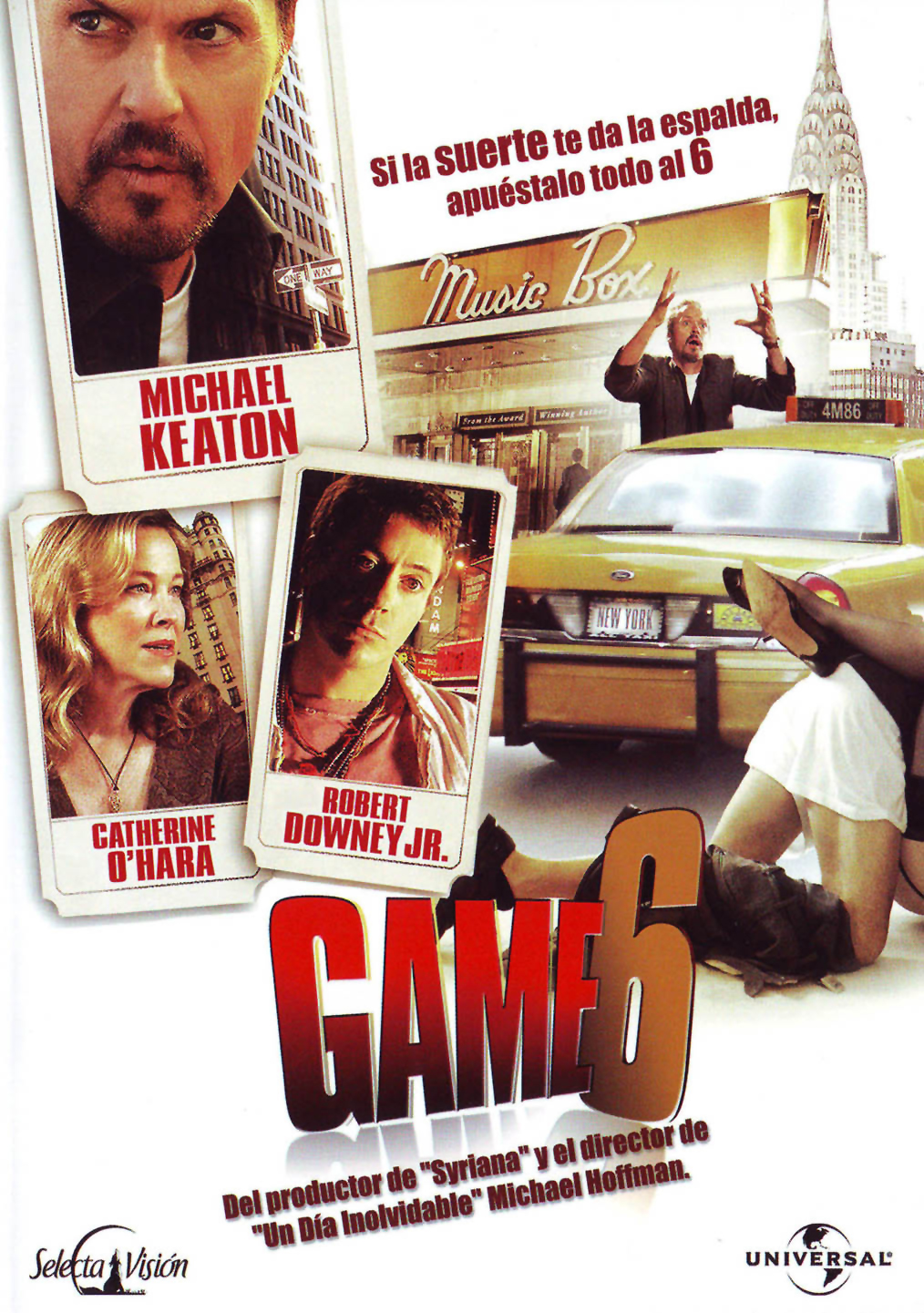 Game 6, Michael Keaton, Robert Downey Jr., Don DeLillo, Michael Hoffman