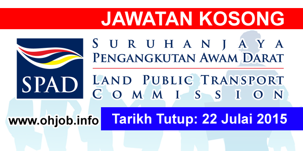 Jawatan Kerja Kosong Suruhanjaya Pengangkutan Awam Darat (SPAD) logo www.ohjob.info julai 2015