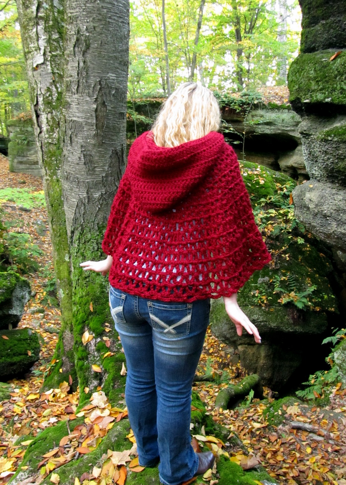 LazyTcrochet: Wildwood Capelet - New Crochet pattern and tutorial