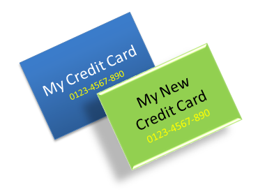 how to change the credit or debit card that is used for custom