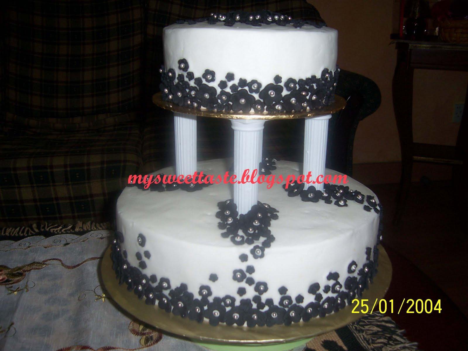 My Sweet Taste Wedding cake