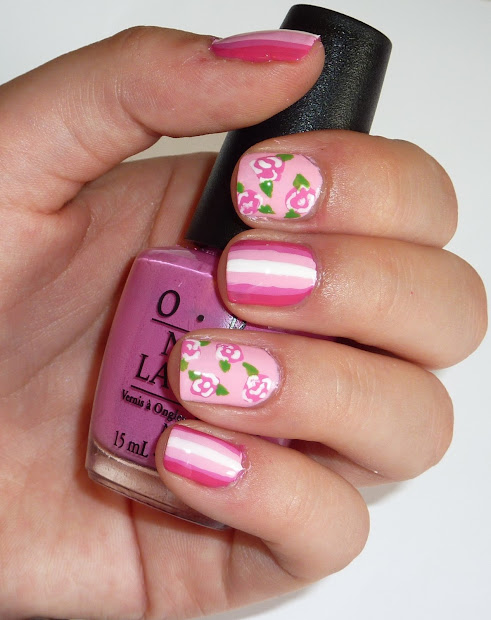 sophie jenner rose nail art