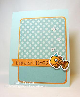 Birthday Fishes-Designed by Lori Tecler-Inking Aloud-stamps and dies from Paper Smooches