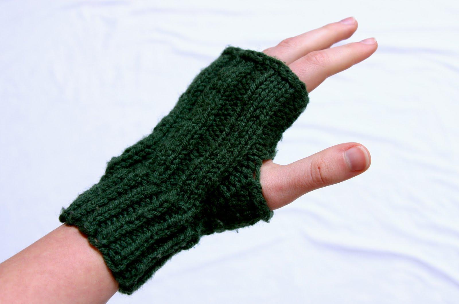 Two-Needle Fingerless Gloves Pattern