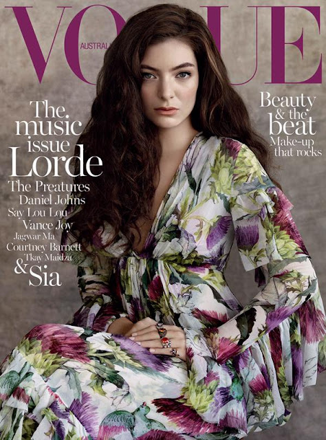 Singer @ Lorde by Robbie Fimmano for Vogue Australia, July 2015
