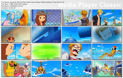 Download Film One Piece Episode 383 (Kontes Harta Karun Besar! Meruntuhkan Pulau Spa) Bahasa Indonesia