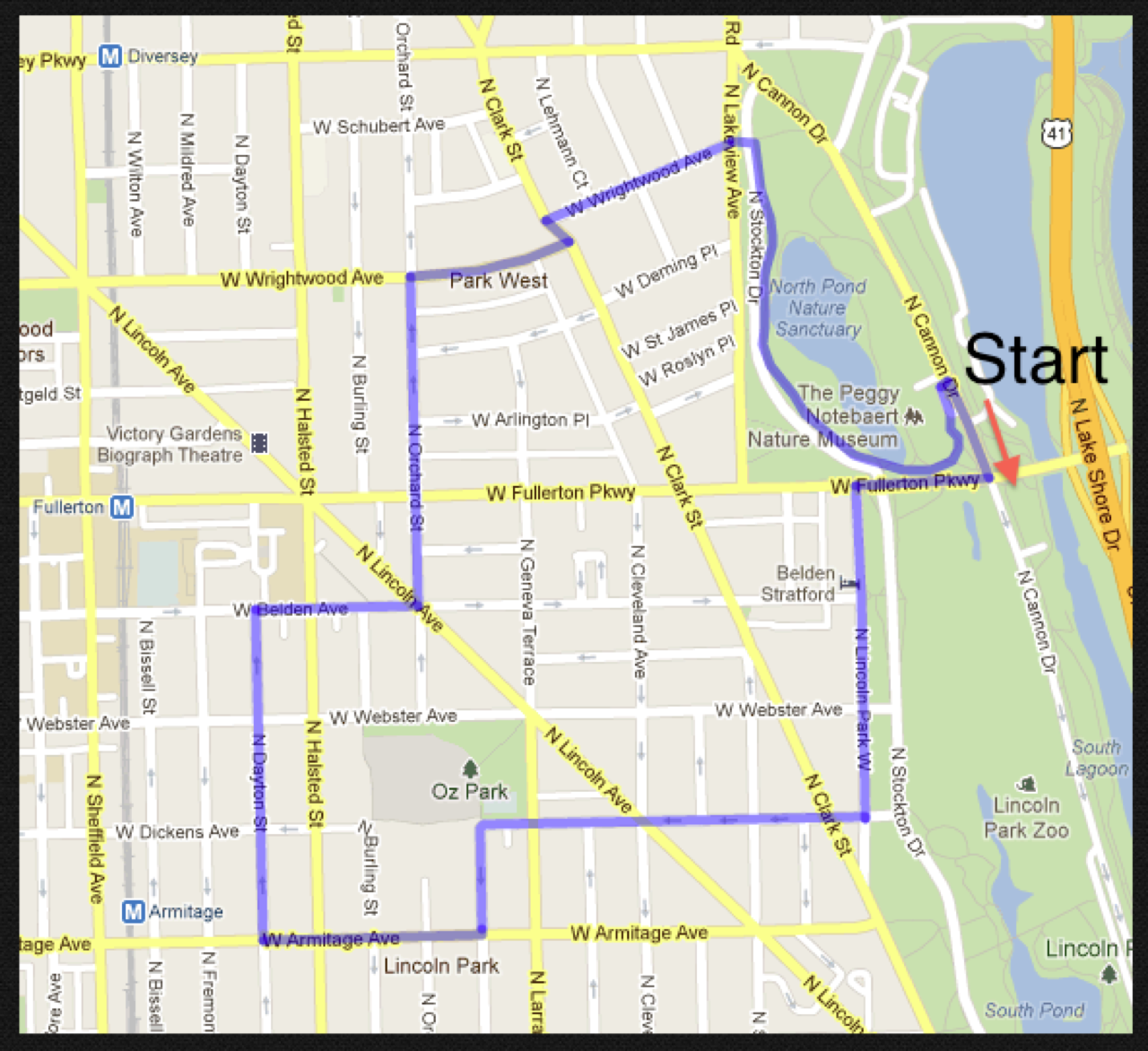Bike Walk Lincoln Park July 2012