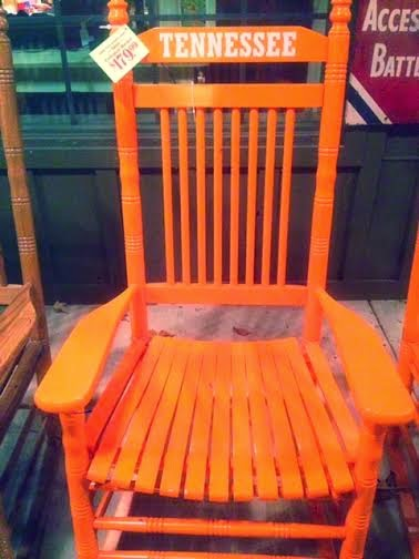 Tennessee TN rocking chair, orange rocking chair, Cracker Barrel rocking chairs, where to buy rocking chair, UT vols rocking chair, Go Vols chair, Cracerk barrel furniture store TN