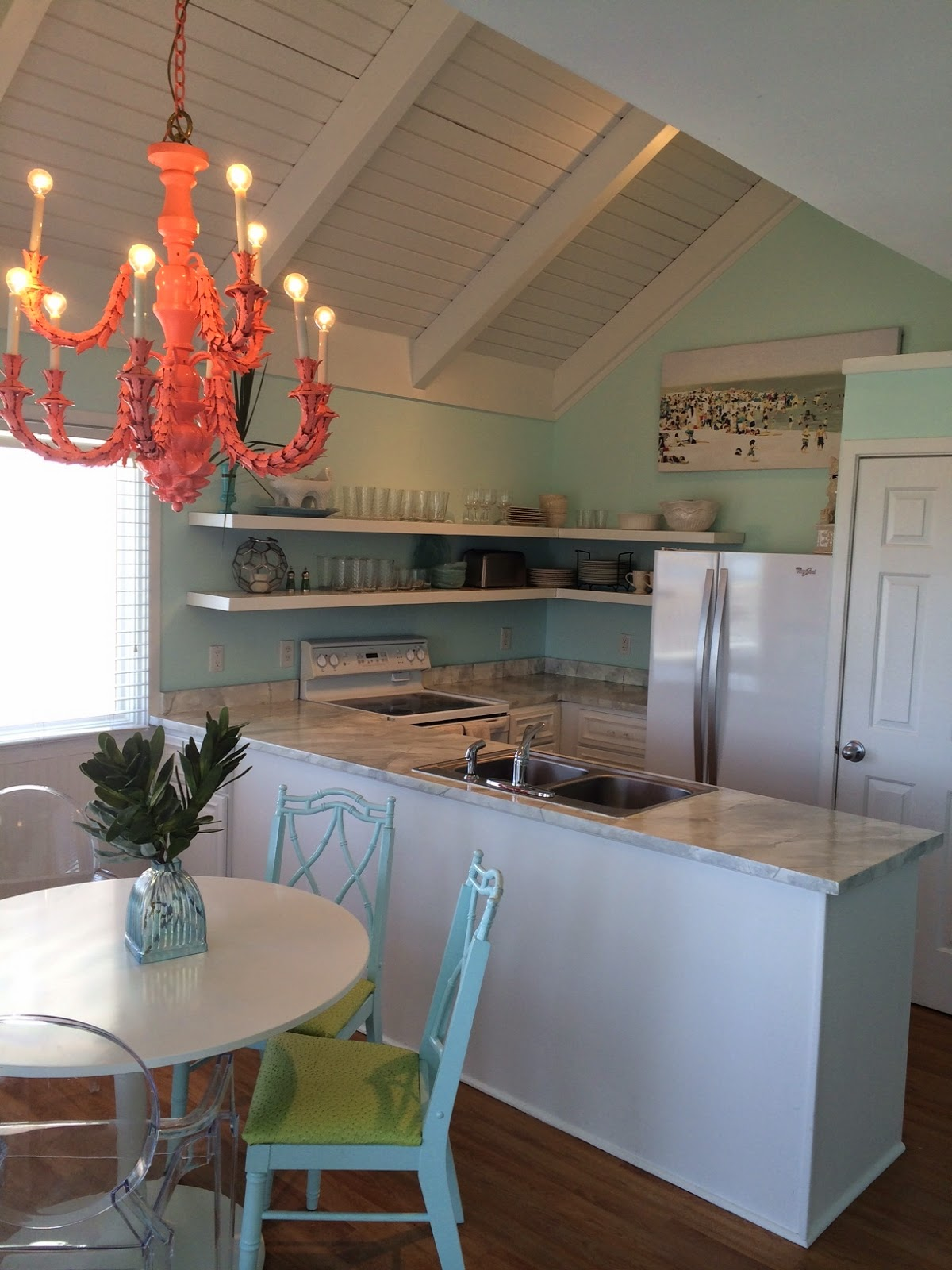 Over Spring Break, I Decided Our Black Butcher Block Countertops At Our  Little Bald Head House Were Ugly And Dark. The Kitchen Is Tiny And It  Needed A ...