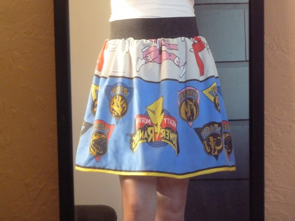 diy power ranger skirt