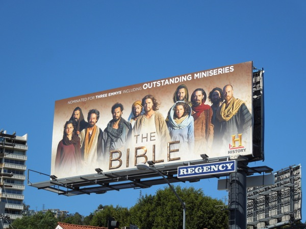 The Bible Emmy billboard