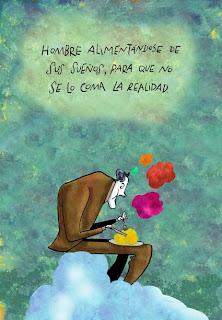 Omar Figueroa Turcios: Man feeding on his dreams to avoid eating reality.
