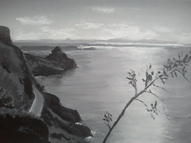 El mar desde lo alto. Acrílico. Autor: José M. Gallego.