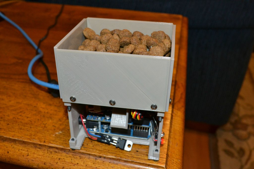 Diy d printing printed dog treat dispenser