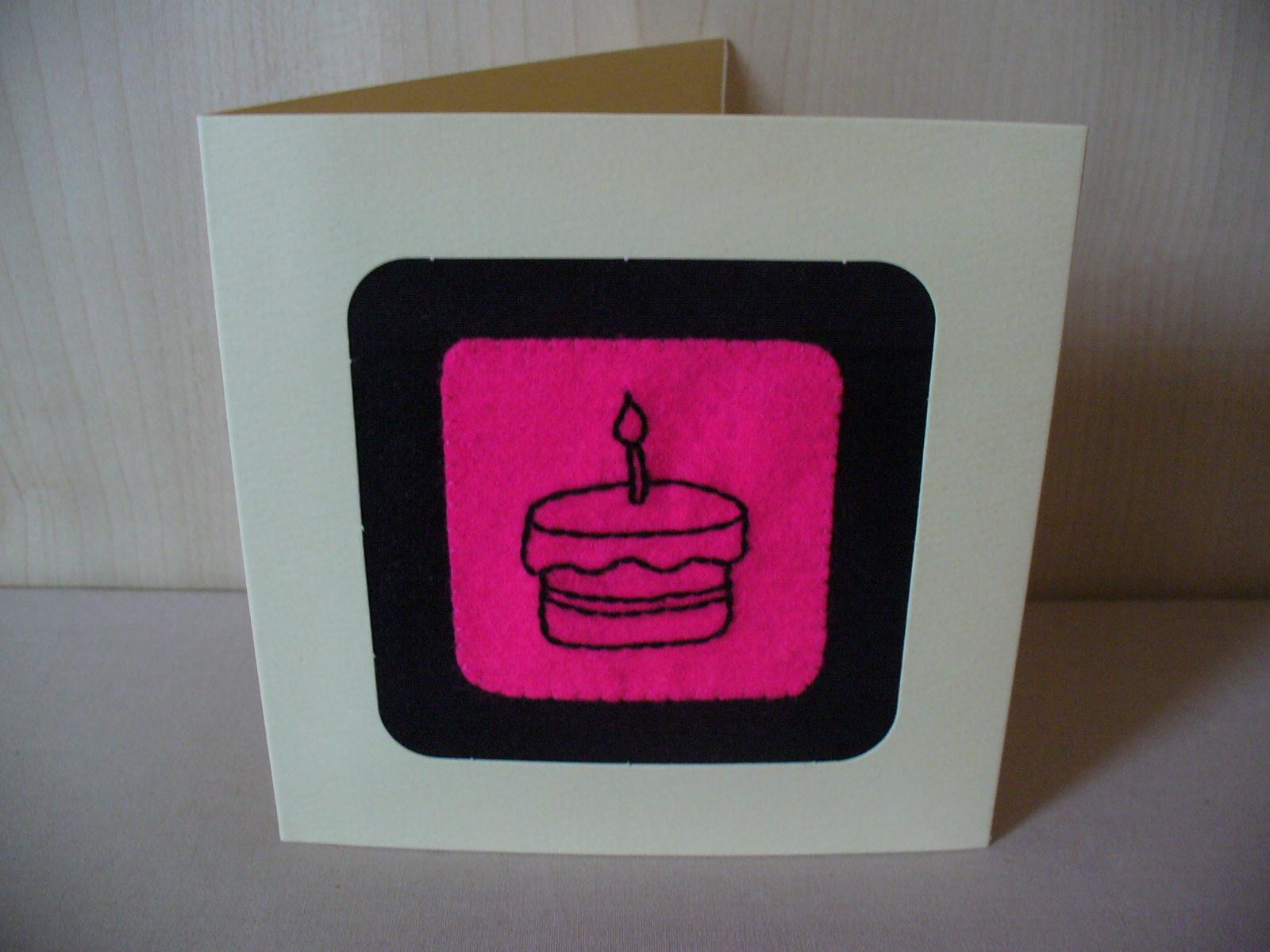 Little Felt House New Hand Sewn Felt Birthday Greetings Cards