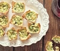 Cestinhas de Palmito e Brócolis (vegana)