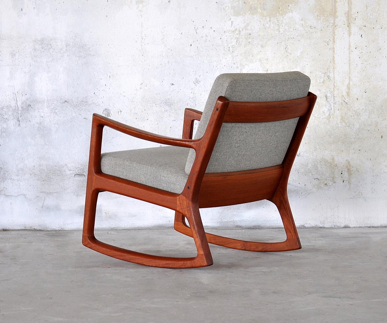 select modern ole wanscher teak rocking chair