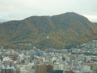 Mt Moiwa and ropeway as seen from the the T38 floor at the JR tower