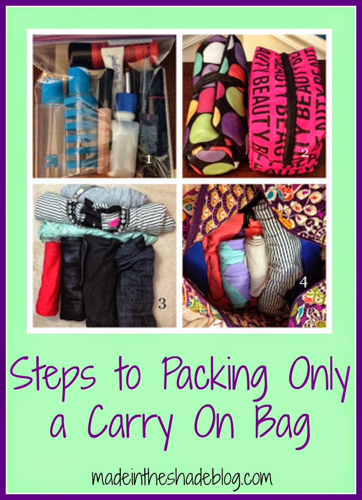 How to only pack a carry on bag