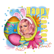 Happy Easter. Artwork by Keith Garvey. Scrap kit used: Eggcited qbd happyeaster queenbrat