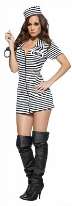 Miss Behaved Convict Costume Ladies