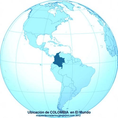 Ubicación de COLOMBIA en El Mundo