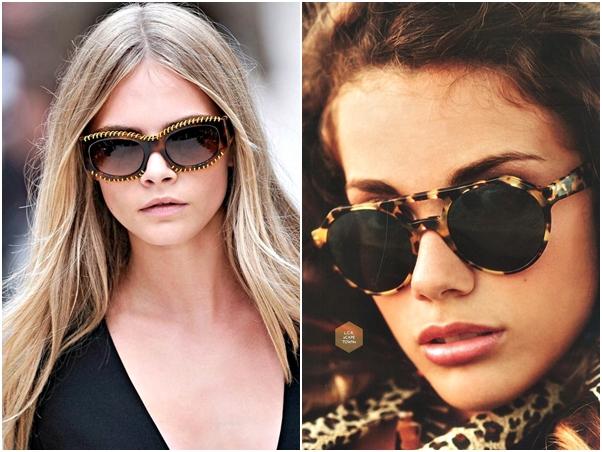 Óculos Diferentes Tendência Aplicação Corrente Oncinha