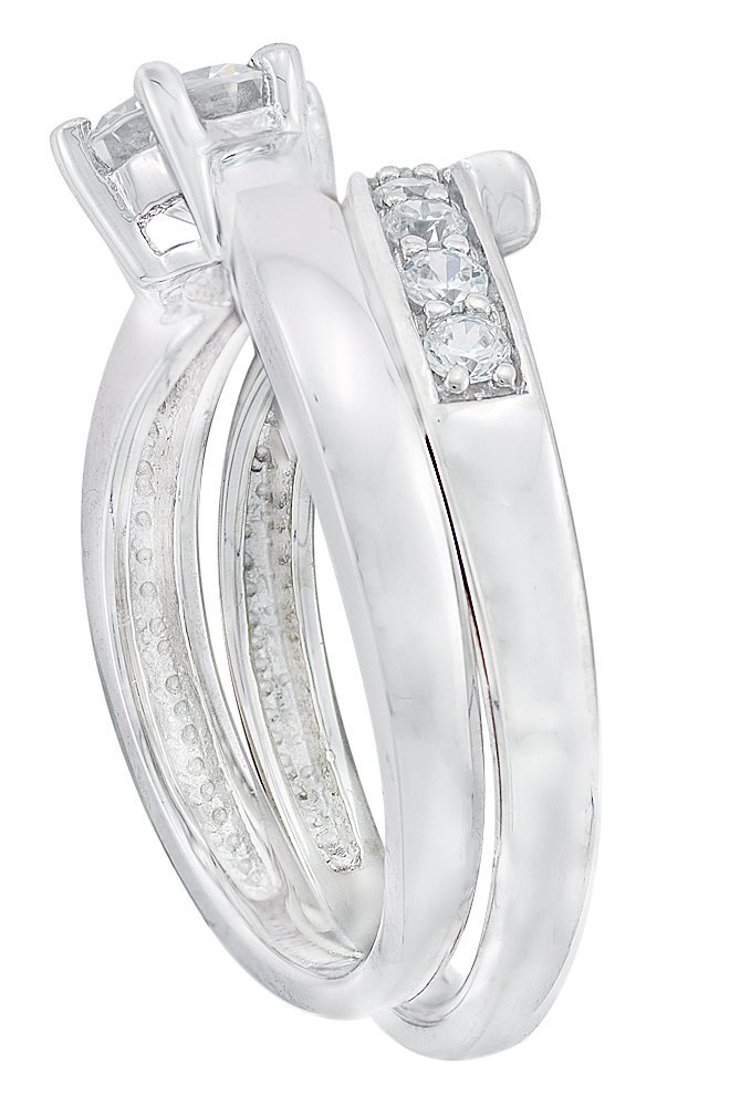 Sterling Silver Cubic Zirconia Wedding Rings Sets 52 Fancy About Cubic Zirconia Jewelry