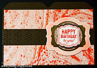 Photo Tutorial showing how to make lovely borders and shading with your Framelit / Nestability Dies - here shown with Stampin' Up!'s Deco Labels Framelits on a fun File Card made with the Envelope Scoreboard
