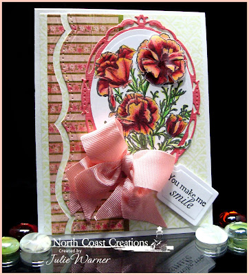 Stamps - North Coast Creations Floral Sentiments 3, ODBD Custom Recipe & Tags Die, ODBD Vintage Mini Pattern 1