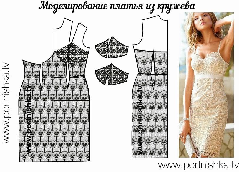 Сшить кружевное платье своими руками мастер класс 68