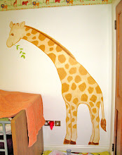 Giraffe Mural Painting for Kid's room 2011