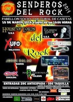 El festival Senderos del Rock tendrá lugar en Zaragoza
