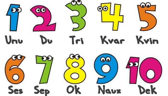 ... al esperanto al igual que con otros idiomas los números son uno de