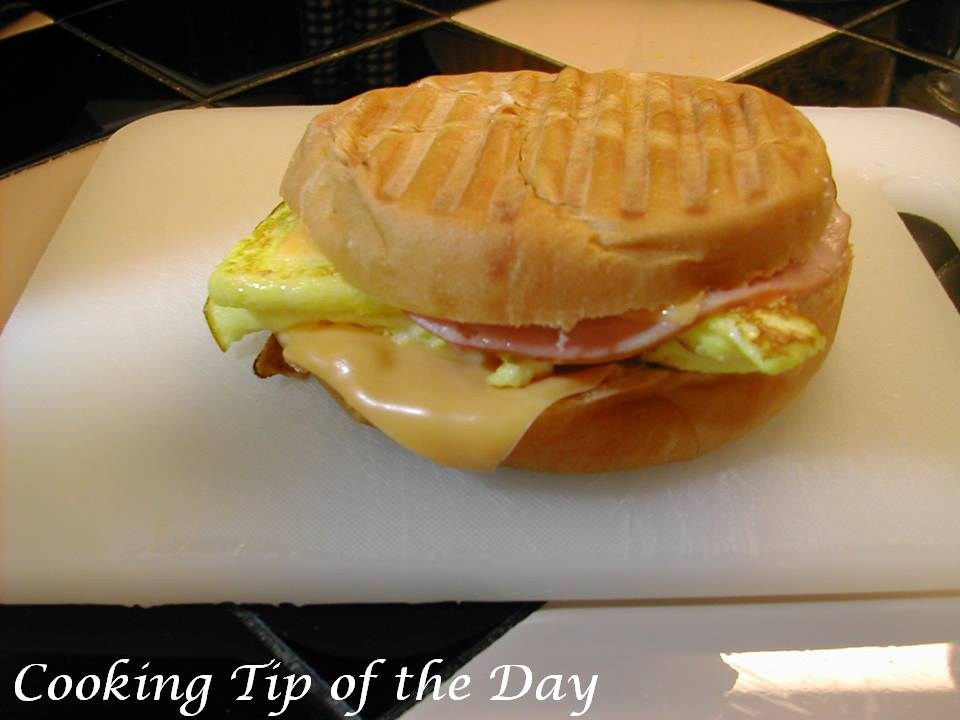 Cooking Tip of the Day: Recipe: Ham and Cheese Breakfast Panini