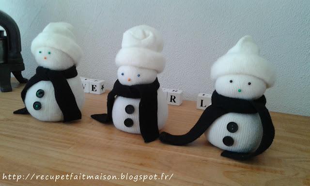 R cup et fait maison d co de no l bonhomme de neige en - Decoration de noel fait maison facile ...