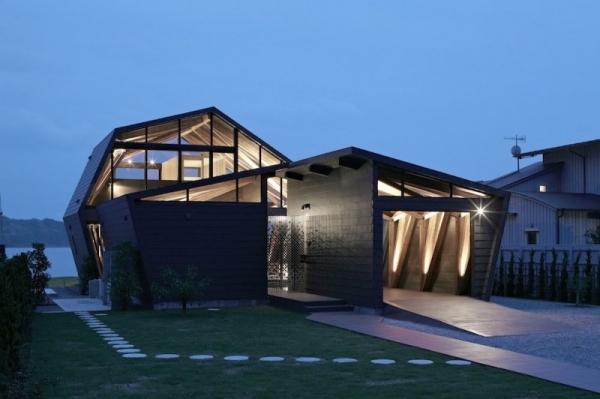 Casa con formas geom tricas todo sobre fachadas for Casa a forma di v