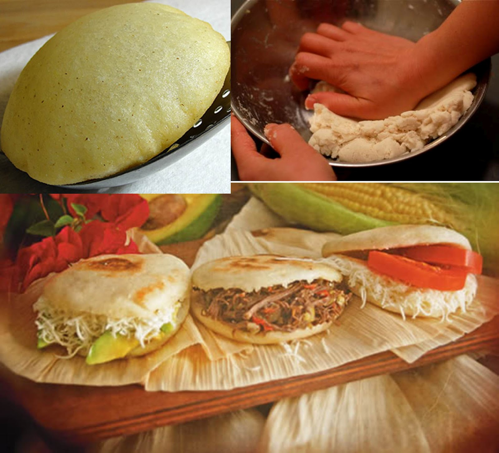 Oversized Mozzarella Arepas Recipe — Dishmaps