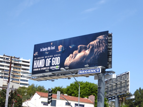 Hand of God Amazon series billboard